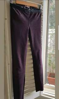 Helmut Lang stretch lamb leather leggings pants 6 excellent condition