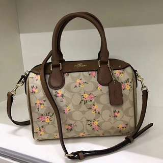 Coach Mini Bennett Satchel with Flower Print