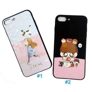 Watercolor Floral Spring Chibi Anime Soft Case for iPhone 6plus/6s+, 7plus/8+ .