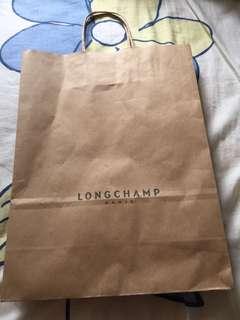 Longchamp 紙袋