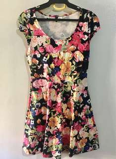 H&M Floral Jersey Dress