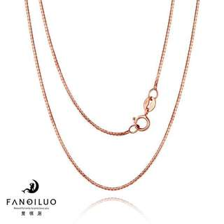 18Inch S925 Rose Gold Plated Necklace