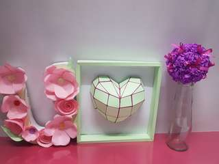 Crepe paper Flower ball centrepiece with ribbons