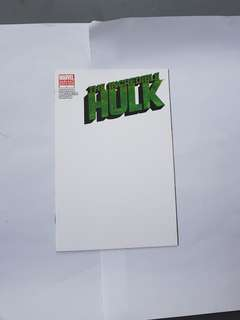 INCREDIBLE HULK 1 BLANK COVER VARIANT SILVESTRI