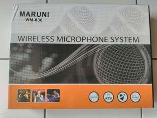 Mic Wireless Maruni WM-838