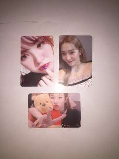 Official Red Velvet Bad Boy Kihno Photocards