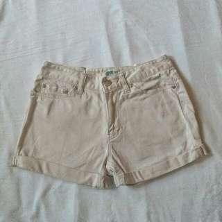 Cream Shorts