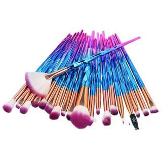 20 pcs Unicorn Brush Set