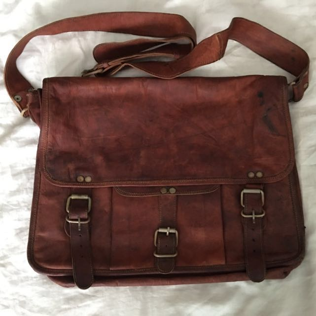 cefe9d9057 100% Cow Leather Bag (From Australia)