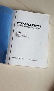 Wood adhesives chemistry and technogy book