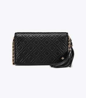 Tory Burch Fleming Flat wallet Crossbody - black