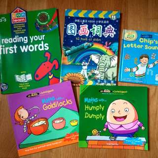 $1.70 math prep for P1. First Words. Phonics Sounds. Any 3 books for $5 (Or $4.89 each). kindergarten preparation for primary school. for Nursery Toddlers or Children 2 - 6 Years. Good Condition
