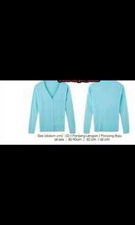 Cardigan rajut & adem soft blue (biru muda)