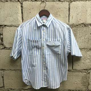 Stripes Collared Short Sleeve