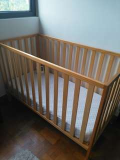 Mother Care Baby Cot with Mattress (99% New)
