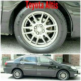 Tyre 195/60 R15 Membat on Toyota Altis 🐕 Super Offer 🙋♂️