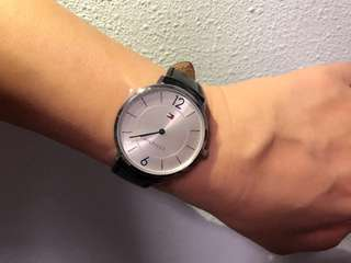 Tommy Hilfigee Stainless Steel and leather watch *NEW*