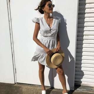 ➰ madisonsquare - white polka dot dress