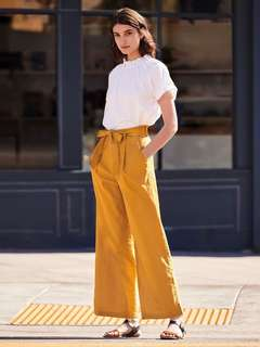 [PO] Uniqlo Inspired Linen Cotton Wide Pants