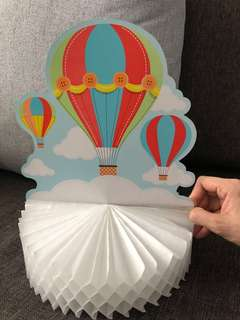 Hot air balloon party table centerpiece