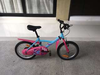 "16"" Children bike blue and pink - Decathlon B'twin"