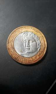 Coin 1 real brazil