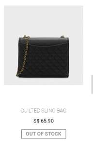Charles & Keith: Quilt Sling Bag