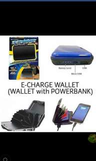 Wallet with powerbank