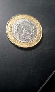 2 peso republica argentina