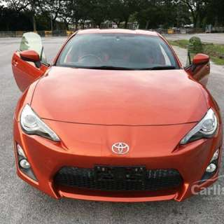 2013 Toyota 86 2.0 GT Coupe Manual Transmission