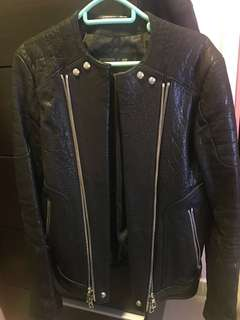 Balmain H&M leather jacket eur44
