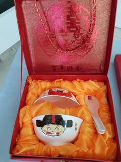 Chinese Wedding Couple Bowl Set