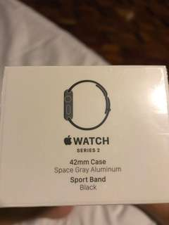 Apple Watch Series 2 42mm Space Gray Sport Band Black