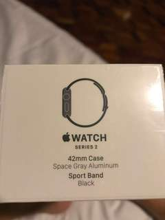 Apple Watch Series 2 42mm Space Gray Aluminum Sport Band Black