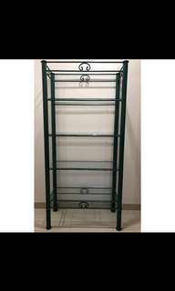 Green Glass Display Cabinet