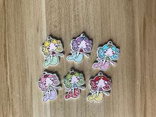 Princess Mermaid Wooden Buttons