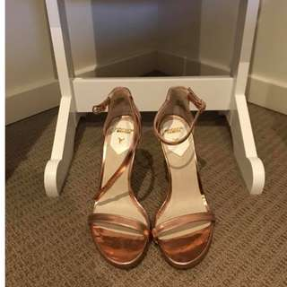 Windsor Smith Heels - Crawwl in Rose Gold (Size 6)