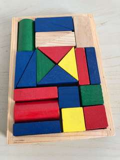 Mini wooden blocks set