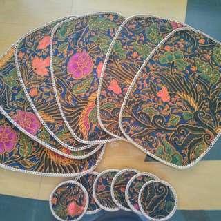 Vintage Batik dining placemat