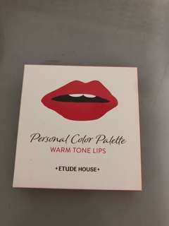Etude house personal color palette for lips