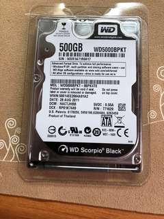 WD 500G 7200轉
