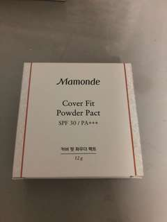 Mamonde cover fit powder pact in 23 sand beige