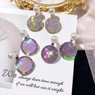 New Design Pearl x Crystal studded Earring