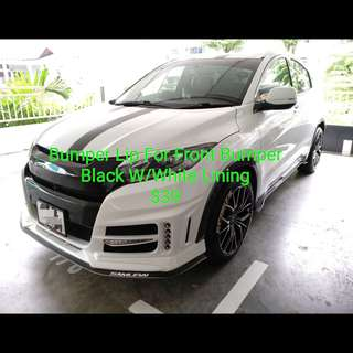 Bumper Lip & Installation On Front Bumper (Black W/White Lining)