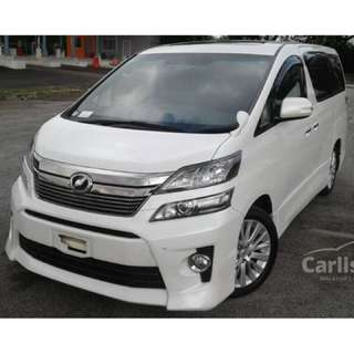 2014 Toyota Vellfire 3.5 ZG Full Spec Come With Sunroof & Moonroof 4 Electric Seat & Pilot Seat