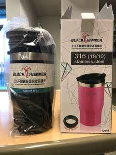 🚚 Black hammer 316不鏽鋼保溫保冰晶鑽杯