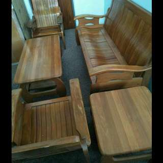 (FREE delivery) wooden sofa set