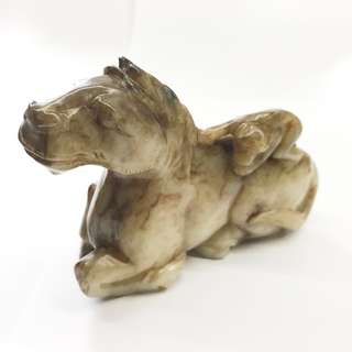 清代馬上封候 11.5cm X 9cm antique Ancient jade 古玉 玉器 monkey horse