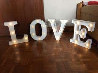Post wedding sale - wedding reception - L O V E