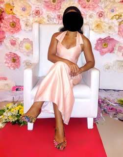 Classy Pastel Pink Gown